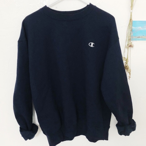 d4a715b67518 Champion Sweaters - Navy Blue Champion Crewneck Sweater